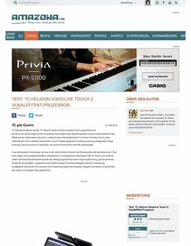 Test: TC Helicon Voicelive Touch 2, Vokaleffekt-Prozessor