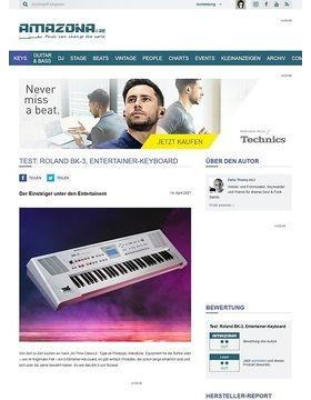 Test: Roland BK-3, Backing Keyboard