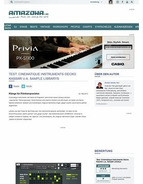 Test: Cinematique Instruments Gecko Kasimir u.a. Sample Librarys