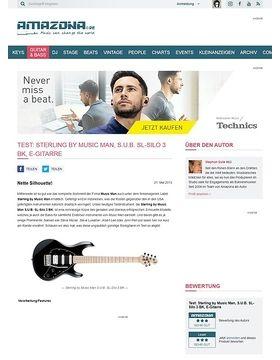 Test: Sterling by Music Man, S.U.B. SL-Silo 3 BK, E-Gitarre