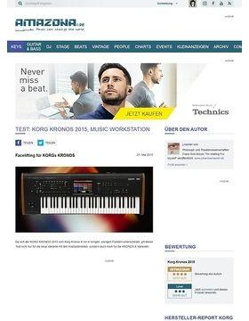 Test: Korg Kronos 2015, Music Workstation