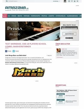 Test: Markbass, CMD JB Players School Combo, Bassverstärker
