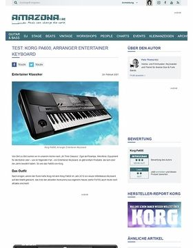 Test: Korg PA600, Arranger Keyboard