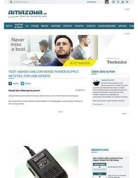 Test: AQVOX USB Low Noise Power Supply, Netzteil für USB Geräte
