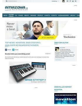 Top News: Novation, Bass Station II, Analoger Keyboardsynthesizer