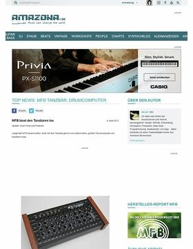 Top News: MFB Tanzbär, Drumcomputer