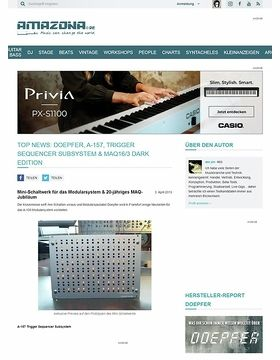 Top News: Doepfer, A-157, Trigger Sequencer Subsystem & MAQ16/3 Dark Edition
