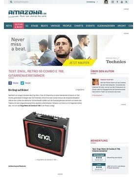 Test: Engl, Retro 50 Combo E 768, Gitarrenverstärker