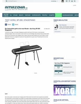 Test: Korg, SP-280, Stagepiano