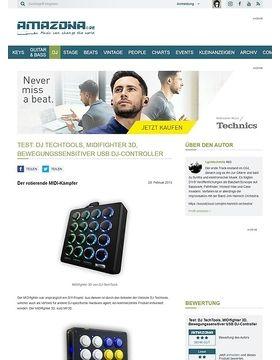Test: DJ TechTools, MIDIfighter 3D, Bewegungssensitiver USB DJ-Controller
