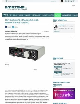 Test: Focusrite, iTrack Solo, USB-Audiointerface für iPad