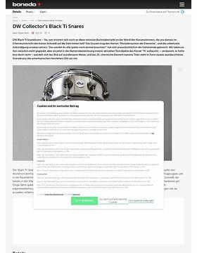 DW Titan Black 5x5, 6,5x5 Snares