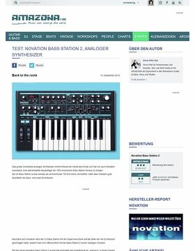 Test: Novation Bass Station 2, analoger Synthesizer