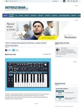 Test: Novation Bass Station 2, analoger Synthesizer