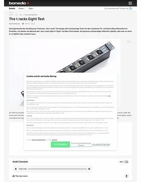 The t.racks Eight Test