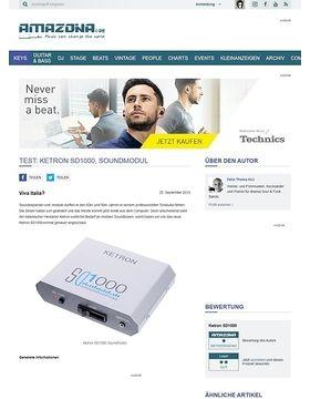 Test: Ketron SD1000, Soundmodul