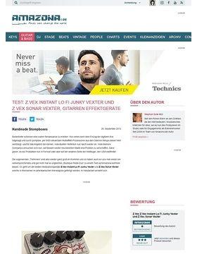 Test: Z.Vex Instant Lo Fi Junky Vexter und Z.Vex Sonar Vexter, Gitarren Effektgeräte