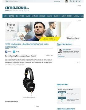 Test: Marshall Headphone Monitor, Hifi-Kopfhörer