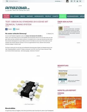 Test: Gibson SG Standard 2013 EB ME mit Tronical Tuning System