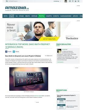 Interview & Top News: Dave Smith Prophet 12 Module (Rack)