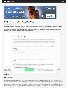 TC Electronic Hall Of Fame Mini Test