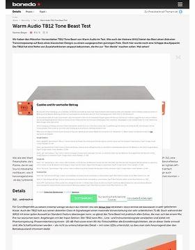 Warm Audio TB12 Tone Beast Test