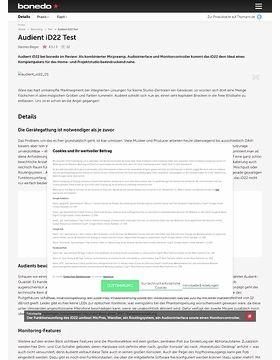 Audient iD22 Test