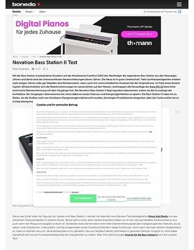 Novation Bass Station II Test