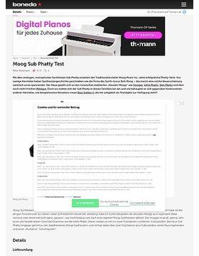 Moog Sub Phatty Test