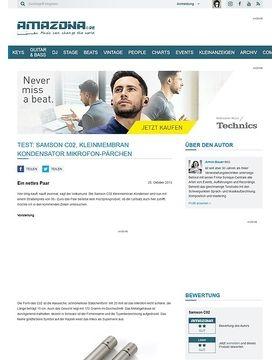 Test: Samson C02, Kleinmembran Kondensator Mikrofon-Pärchen