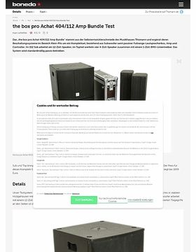 the box pro Achat 404/112 Amp Bundle Test