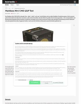 Markbass Mini CMD 121P Test