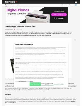 Studiologic Numa Concert Test