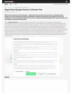 Rupert Neve Designs Portico II Channel Test