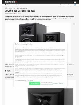 JBL LSR-305 und LSR-308 Test