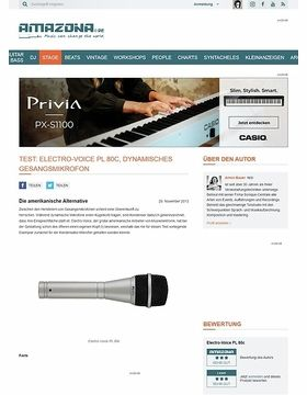 Test: Electro-Voice PL 80c, dynamisches Gesangsmikrofon