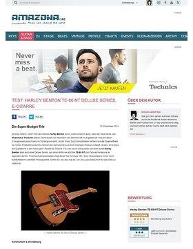 Test: Harley Benton TE-80 NT Deluxe Series, E-Gitarre