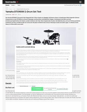 Yamaha DTX900K E-Drum Set Test