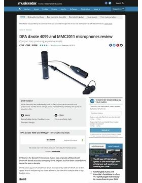 DPA d:vote 4099 and MMC2011 microphones
