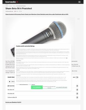 2. Shure Beta 58 A