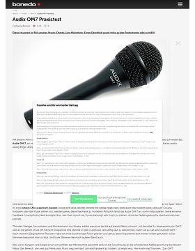 4. Audix OM7