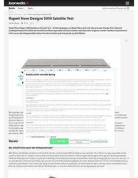 Rupert Neve Designs 5059 Satellite Test