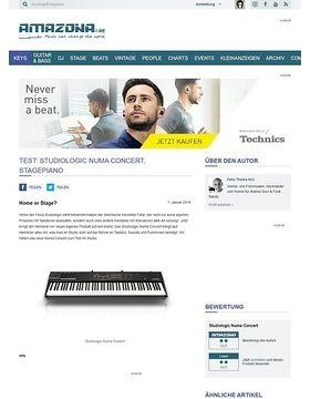 Test: Studiologic Numa Concert, Stagepiano
