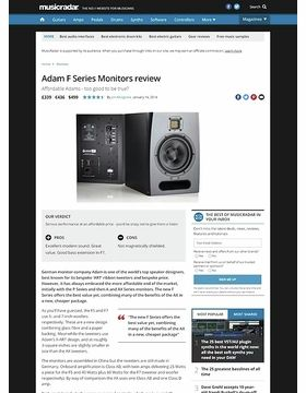 Adam F Series Monitors