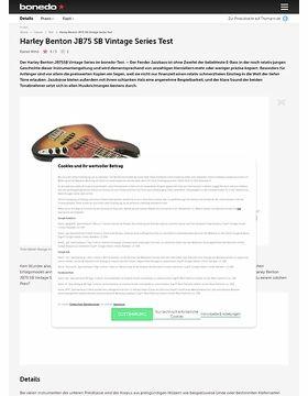 Harley Benton JB75 SB Vintage Series Test