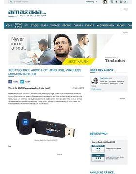Test: Source Audio Hot Hand USB, Wireless MIDI-Controller