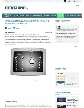Test: Audient iD22, USB-Audiointerface und Monitor-Controller