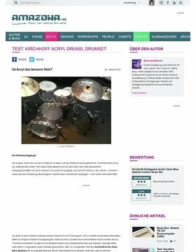 Test: Kirchhoff Acryl Drums, Drumset