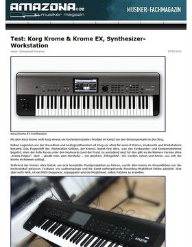 Test: Korg Krome, Keyboard Workstation