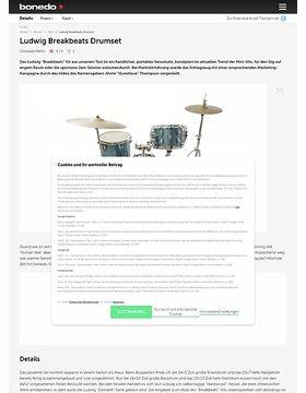 Ludwig Breakbeats Drumset Test